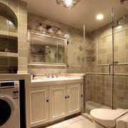 美式简约风格卫生间浴缸设计