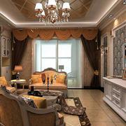 客厅简欧风格吊顶装饰