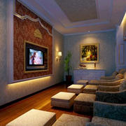 深色调沙发效果图片