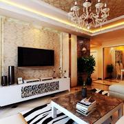 暖色调客厅壁纸
