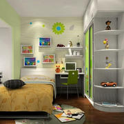 清新绿色儿童房