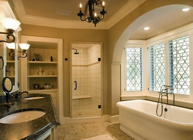 大户型三室美式简约风格卫生间装修效果图