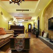 美式简约风格农村房屋客厅设计
