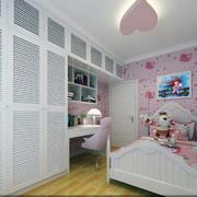 欧式别墅清新粉嫩色女生卧室