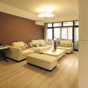 原木亲和系列别墅客厅