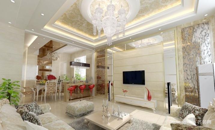 别墅精美现代欧式水晶吊灯效果图