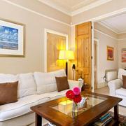 欧式简约风格农村房屋沙发背景墙