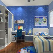 儿童房蓝色壁纸