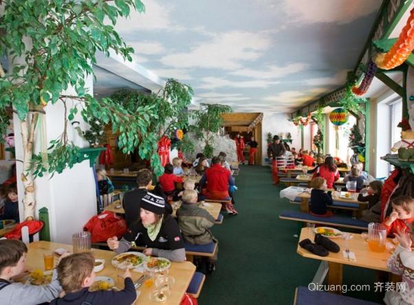 美式简约风格儿童主题餐厅装修效果图