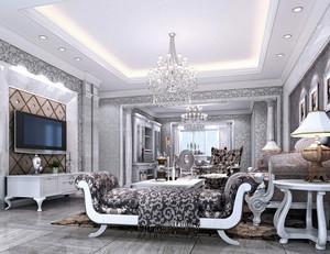 银白色奢华客厅设计
