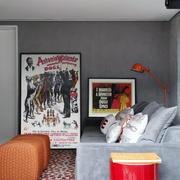 小户型公寓彩色客厅沙发