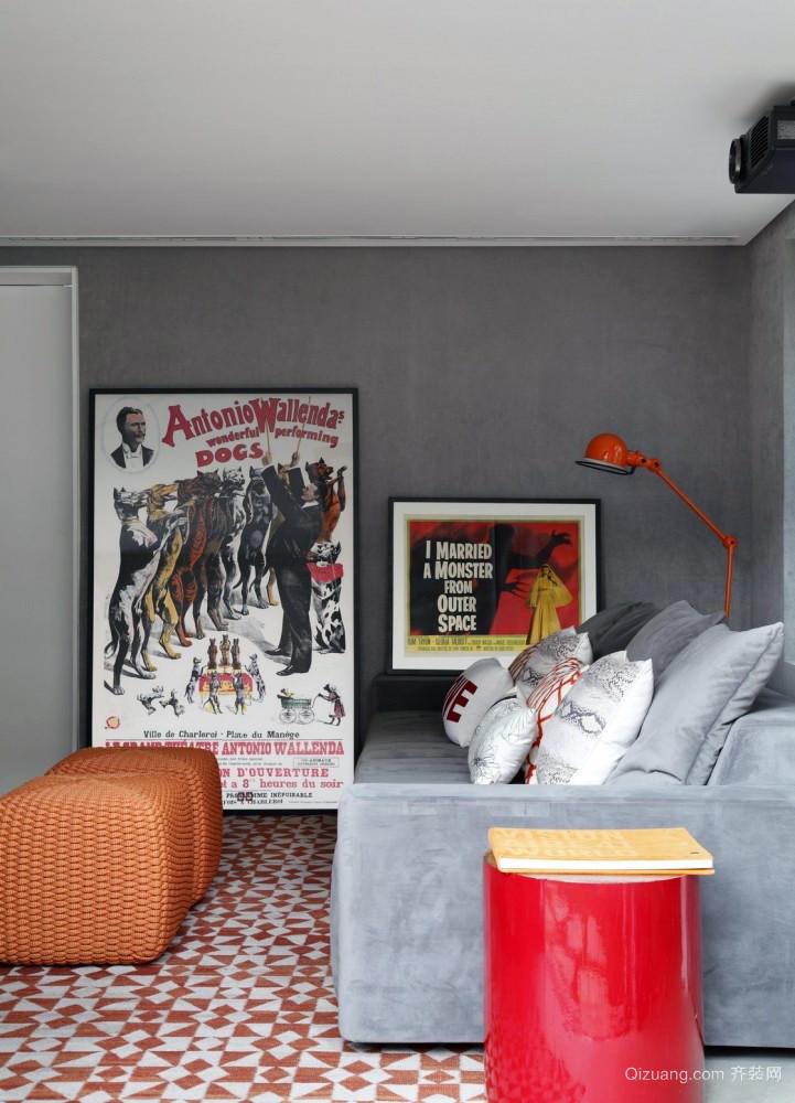 简单优雅:现代创意精致型小公寓装修图
