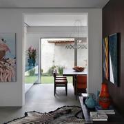 小公寓白色简约客厅墙面设计