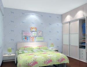 都市小户型儿童房间背景墙装修效果图