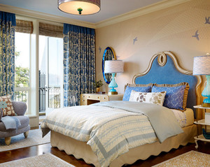 地中海风格卧室床头背景墙