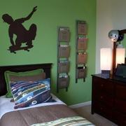 绿色儿童房壁纸