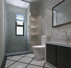 别墅型欧式卫生间隔断装修效果图