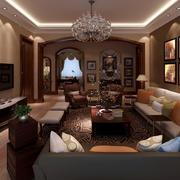 别墅客厅沙发背景墙设计