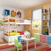 色彩亮丽的儿童房