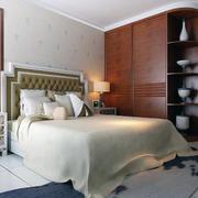 现代卧室床铺图