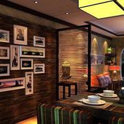 别墅餐厅经典背景墙设计