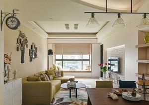 有个性的客厅各式挂钟装修效果图