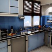 厨房水蓝色橱柜