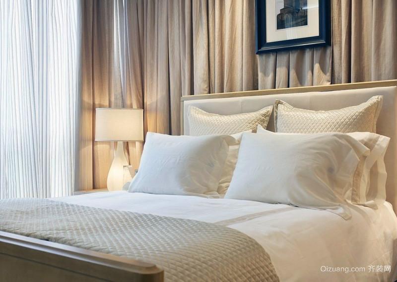 清雅的小户型单人房双人床装修效果图