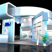 后现代风格展厅整体式3D效果图