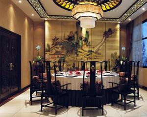 中式风格酒楼隔断装饰