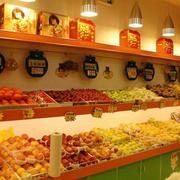 水果店背景墙装饰