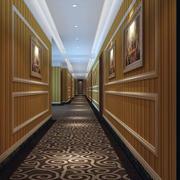 现代精致的酒店走廊