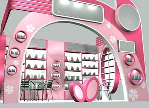 简约风格化妆品展厅装修效果图装饰