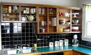 现代大型厨房置物柜