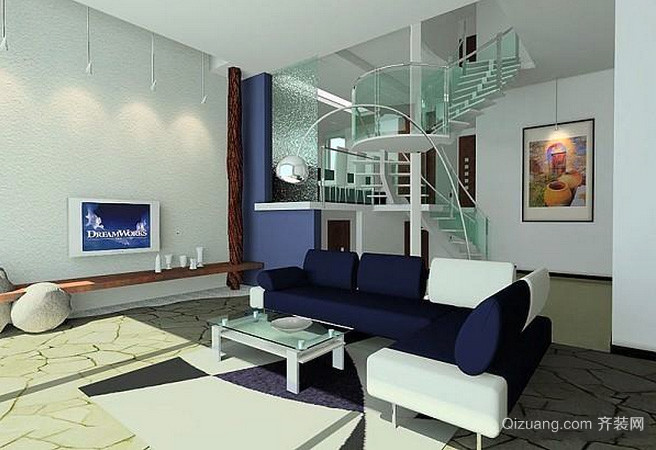 后现代风格家居装修效果图