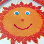太阳型地垫装饰