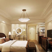 米白色温暖酒店卧室
