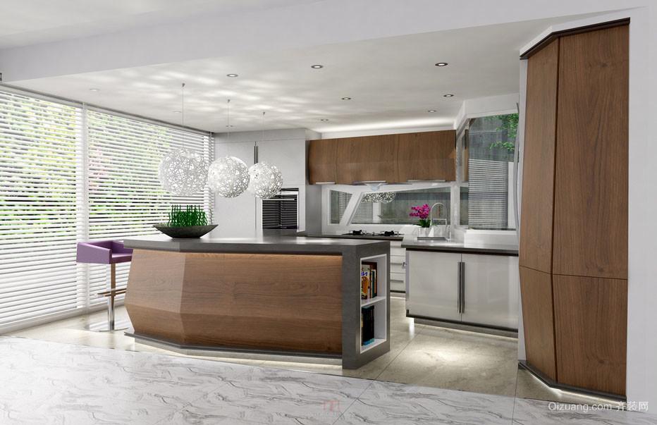 简约现代时尚厨房收纳装修效果图