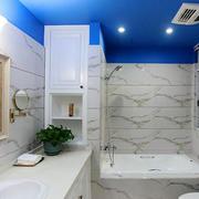 蓝色卫生间吊顶设计