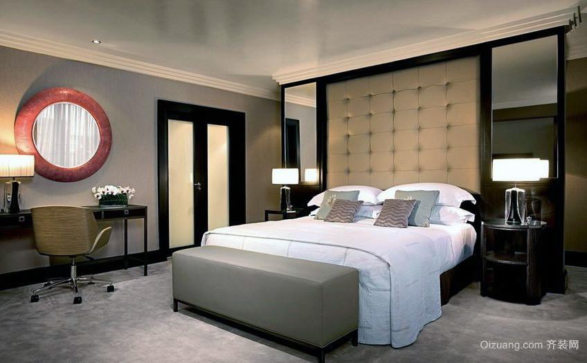 精致唯美的大户型卧室背景墙装修效果图