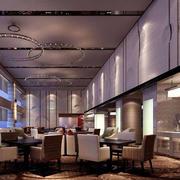 酒店大型餐厅展示