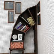 简约风格创意原木书柜装饰