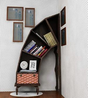 各式各样简约风格书房书柜装修效果图