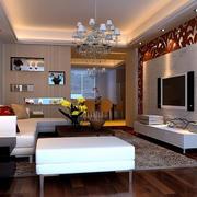 简约风格别墅客厅原木地板装饰