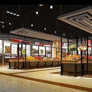 后现代风格水果店地板装饰
