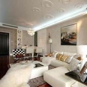 别墅简约客厅沙发装饰