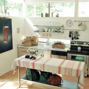 田园风格厨房置物架