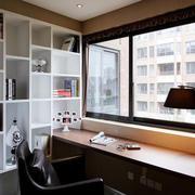 现代风格整体书柜装饰