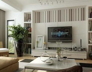 都市简约别墅客厅电视背景墙