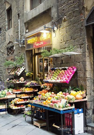 简约风格促进购买欲的水果店装饰效果图